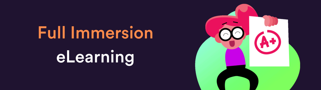 Full Immersion eLearning course cost