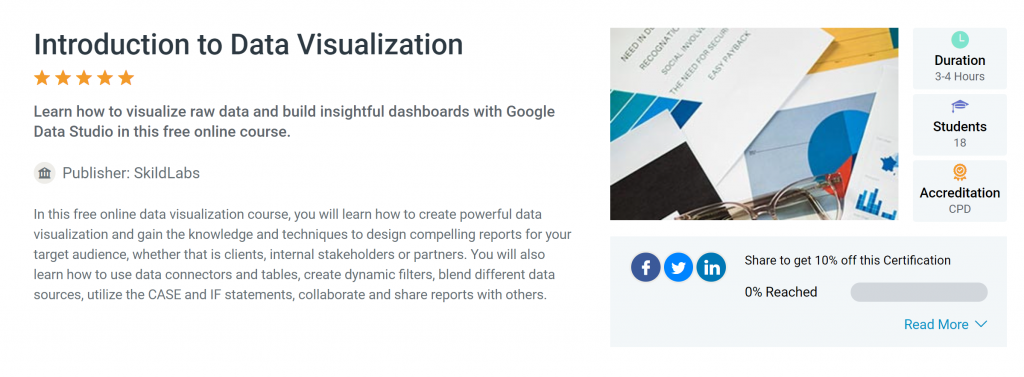 introduction to data visualization as part of the skildlabs and alison partnership